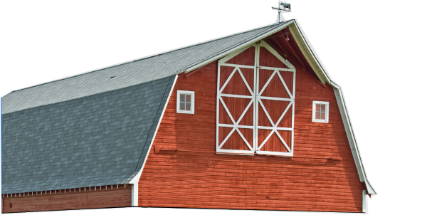top section of barn