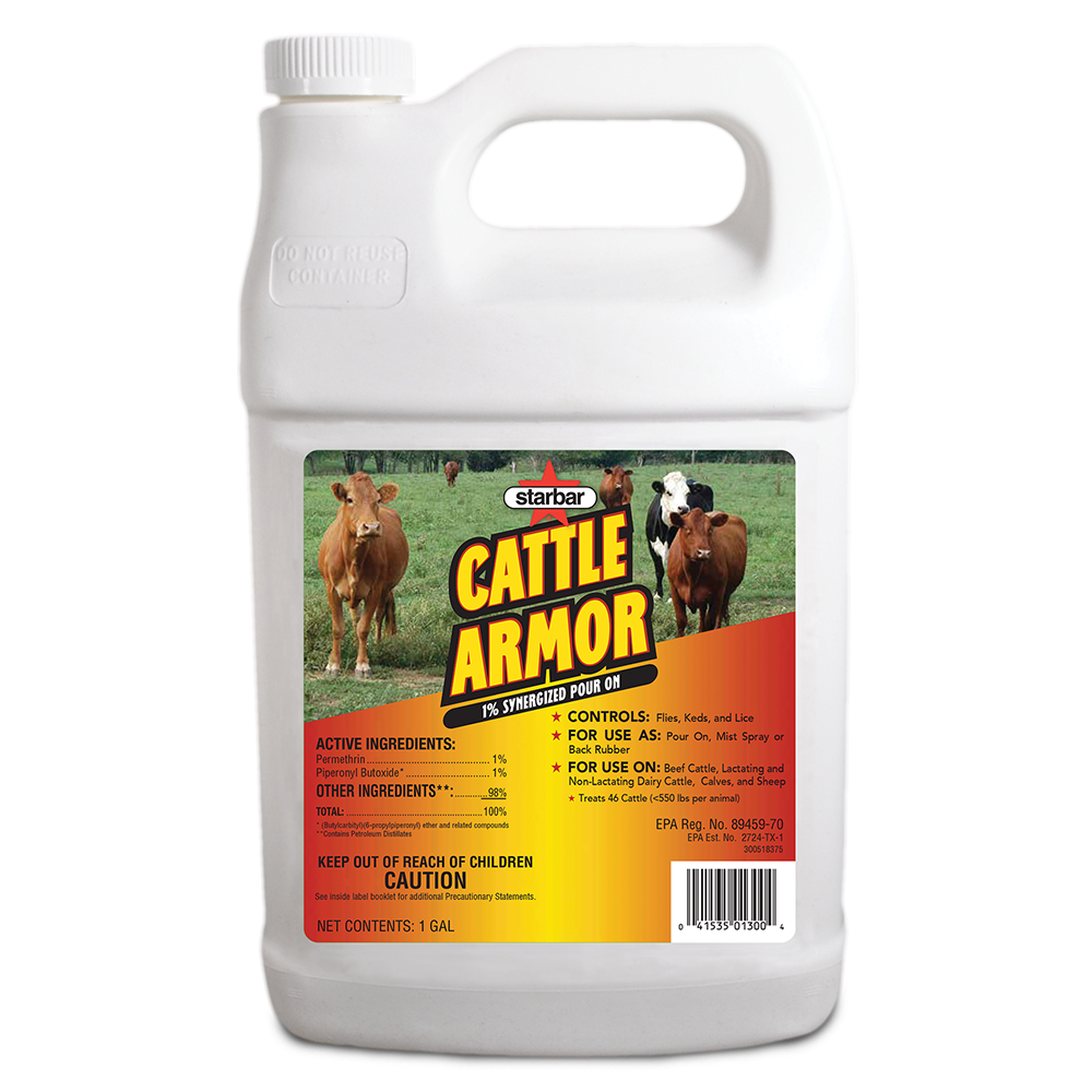 Starbar Cattle Armor Synergized Pour On 1 gallon