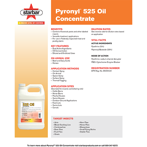 Pyronyl 525 Oil Concentrate Literature